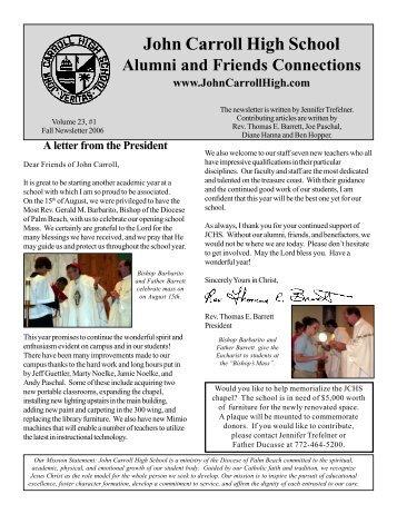 Summer Newsletter 2004 - John Carroll Catholic High School