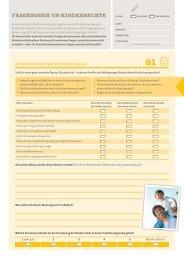 Fragebogen - Kinder