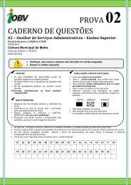 Prova 2 Auxiliar de Servicos Administrativos - IOBV