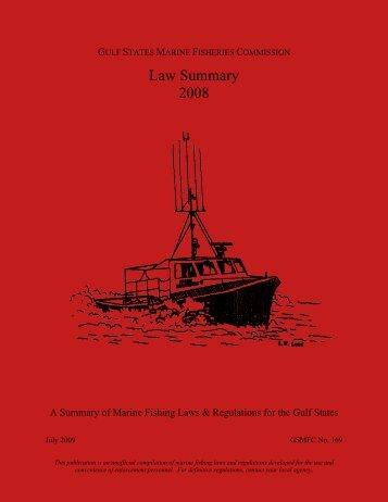 Basic Commercial Fishing Regulations - Gulf States Marine ...