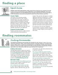 finding roommates finding a place - Housing & Residential Services