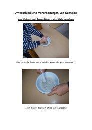 Unterschiedliche Verarbeitungen von Getreide - Grundschule ...