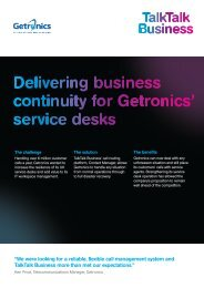 Getronics Case Study:Getronics Case Study - TalkTalk Business