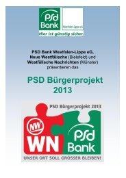 PSD Bürgerprojekt 2013 - PSD Bank Westfalen-Lippe eG