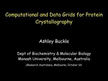 View the presentation slides - eResearch Australasia