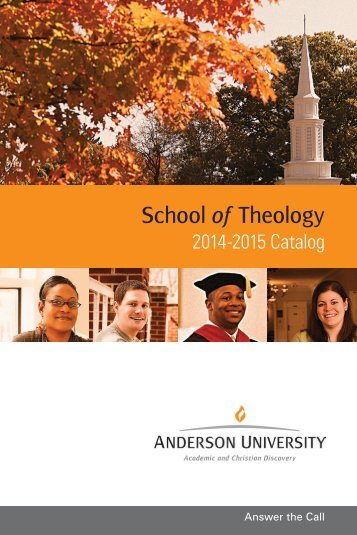 Catalog 2012-2014 - Anderson University School of Theology