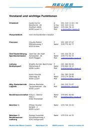 Vorstand und wichtige Funktionen - Ruderclub Reuss Luzern