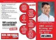 Kandidatenflyer Dr. Thomas Maurer - DIE LINKE. Main-Kinzig