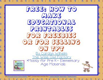 Free EBook How To Make Printables For Selling Or