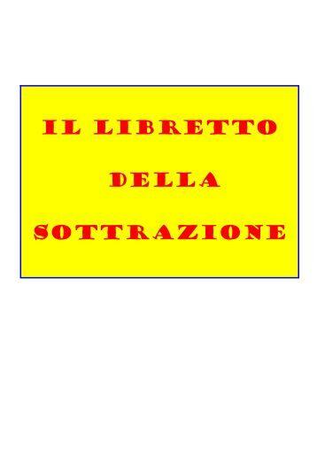 IL LIBRETTO DELLA SOTTRAZIONE - USP di Piacenza