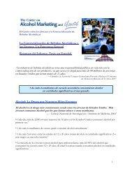 La Comercialización de Bebidas Alcohólicas y los Jóvenes: Un ...