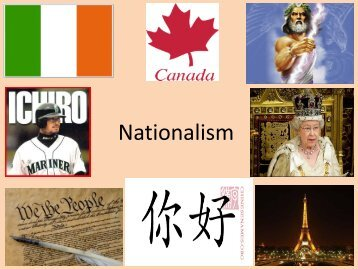 The Traits of Nationalism