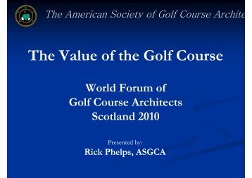 The Value of the Golf Course - European Institute of Golf Course ...