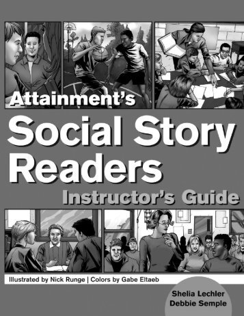 Social Story Readers - Guide Sample - Attainment Company