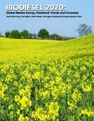 Biodiesel 2020 PAGE 1 COVER 2008 - Emerging Markets Online