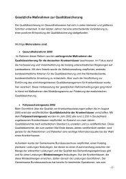 Gesetzliche Maßnahmen zur Qualitätssicherung - GlaxoSmithKline