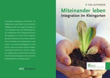Miteinander leben - Bundesverband Deutscher Gartenfreunde e. V.