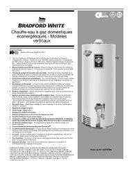 Chauffe-eau à gaz domestiques éconergétiques ... - Bradford White