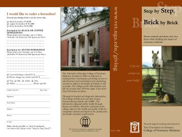 Our Bricks and Horseshoes program - University of Georgia College ...