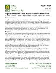 tax credits - Iowa Fiscal Partnership