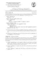 Blatt 9 - Institut für Informatik - Christian-Albrechts-Universität zu Kiel