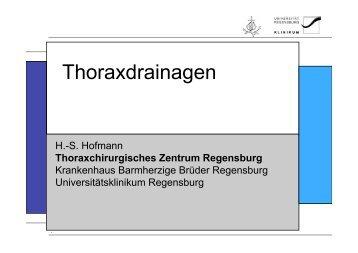 Thoraxdrainagen - Universitätsklinikum Regensburg