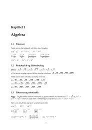 Kapittel 1 Algebra