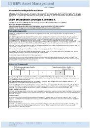 LBBW Dividenden Strategie Euroland R - Haspa