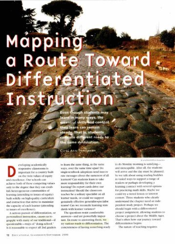 Mapping a Route