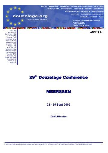 annex a - Douzelage.org