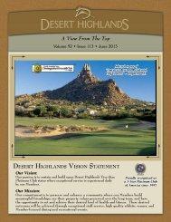 June 2013 - Desert Highlands
