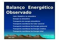Balanço Energético Observado - Torre:Tempo e Clima