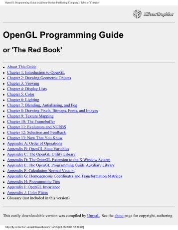 OpenGL Programming Guide - Media Arts and Technology