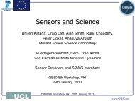 Sensors and Science - QB50