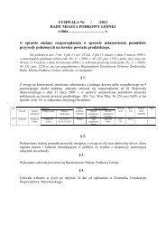 Projekt nr 40/2011 - Biuletyn Informacji Publicznej, Urząd Miasta ...