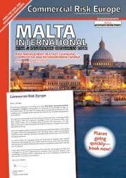 places going quickly— book now! - European Risk Insurance ...