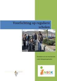Voorlichting op reguliere scholen - Nederlandse Stichting voor het ...