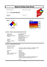 Material Safety Data Sheet - US Chemical & Plastics