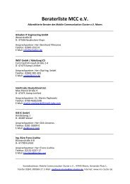 Akkreditierte Berater - MCC-Mobile Communication Cluster
