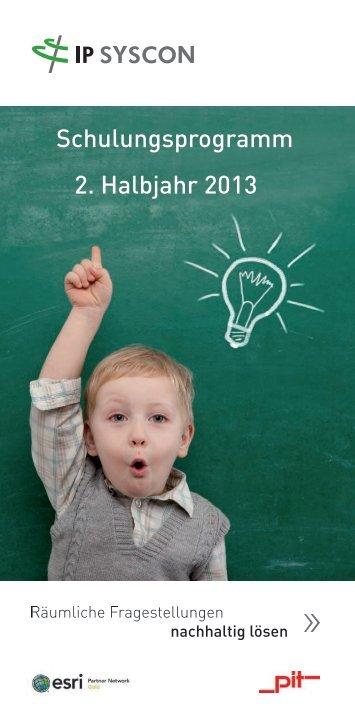 Schulungsprogramm 2. Halbjahr 2013 - IP Syscon