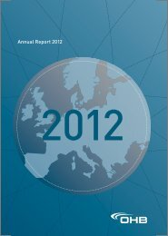 Annual Report 2012 - OHB AG