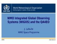 WMO Integrated Global Observing System - QA4EO