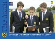 The Math - Sir Joseph Williamson's Mathematical School