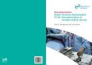 Decontamination Health Technical Memorandum 01-01 ...