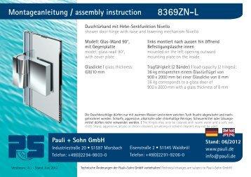 Montageanleitung Nivello - 8369ZN-L (PDF 4.1 MB) - Pauli