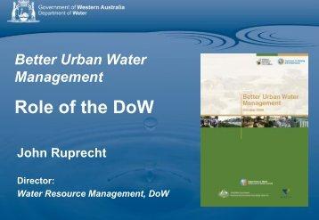 Better Urban Water Management - Urban Development Institute of ...