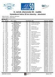 klas_50km - TJ ČZU Praha