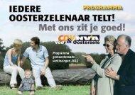 PROGRAMMA - CD&V Oosterzele