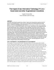 (IT) on e- Government and other Organizational ... - Asbbs.org