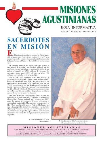 SACERDOTES EN MISIÓN - agustinos de la provincia del santisimo ...